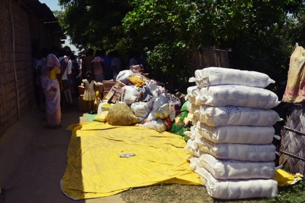 Assam flood relief operation in 2016 at Morigaon District