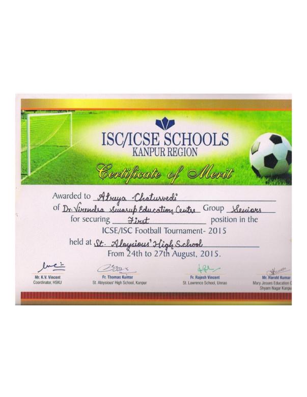 ISC Football Cert