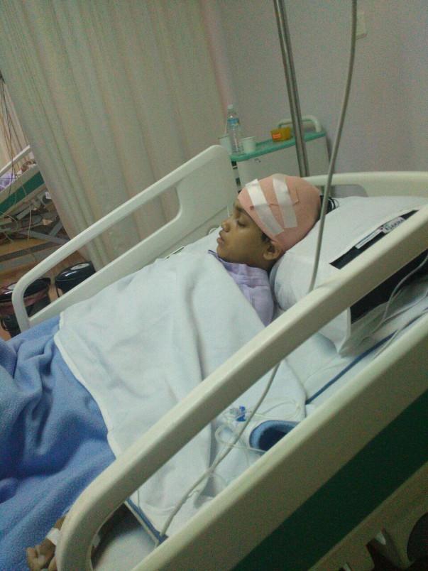 Angelina aged 12- Brain Tumor.
