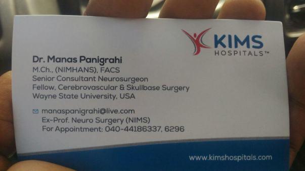 Doctors visit card