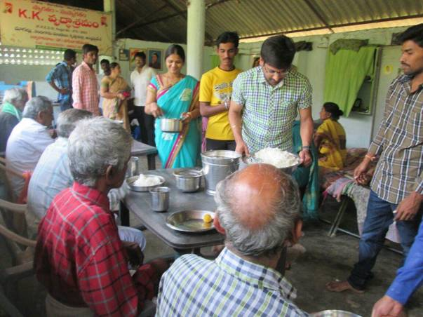 A charity programme conducted by  Chaitanya junior college, Nandigama