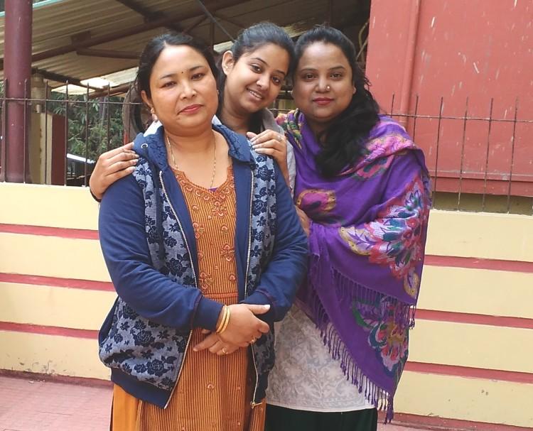 With Aruna and Gita