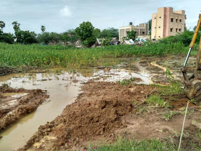 Chella perumal nagar pond: Work in Progress