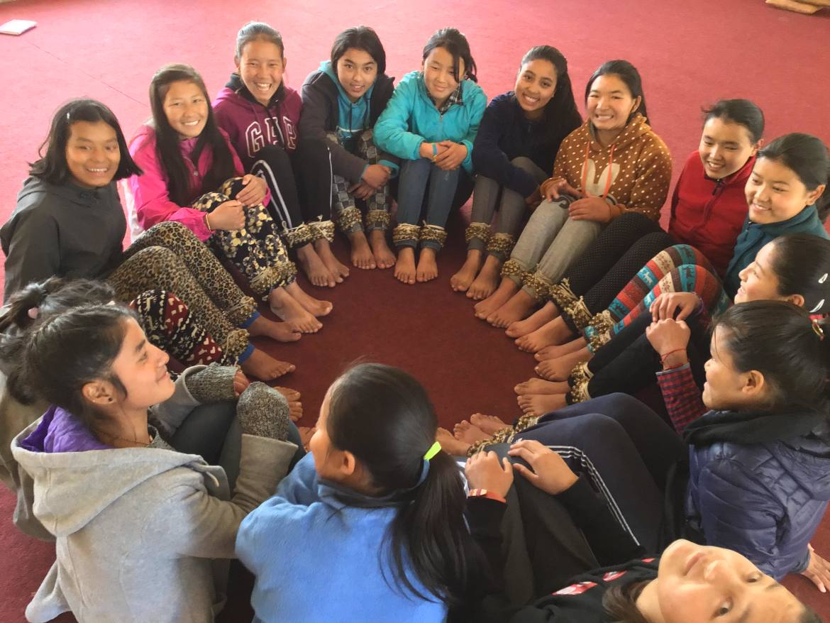 Tibetan girls from Bir, Himachal Pradesh
