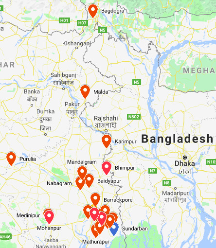 Geographical spread of our operations in West Bengal
