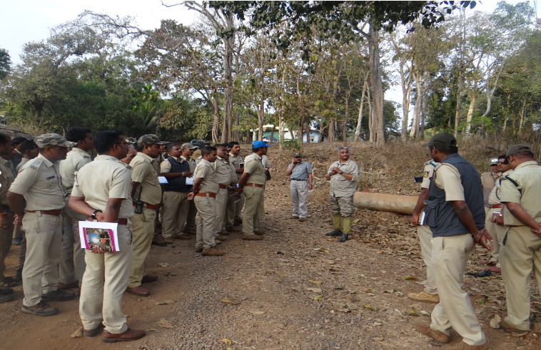 Practical exercises on Crime scene investigations were conducted by Rajshekar, CPI, CCB from Department of police,