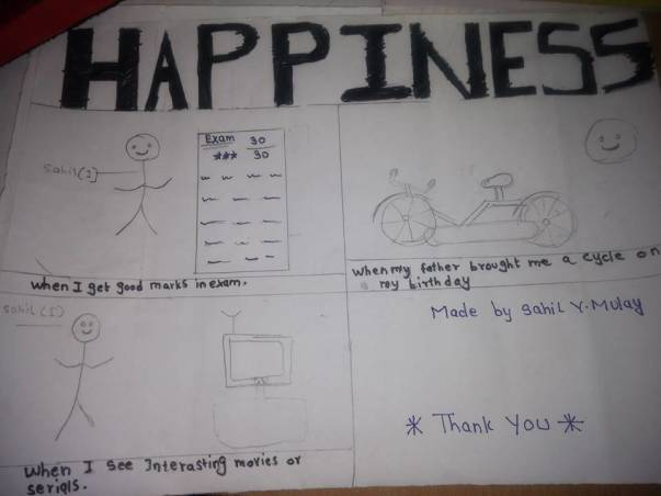 One of our student shares what makes him happy