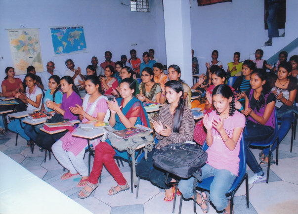 Educating girls of Science- Maths subject 12th class.