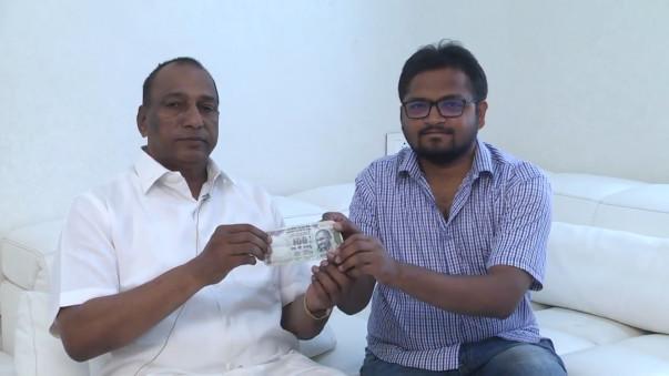 Shri Malla reddy garu supporting Sunil and India