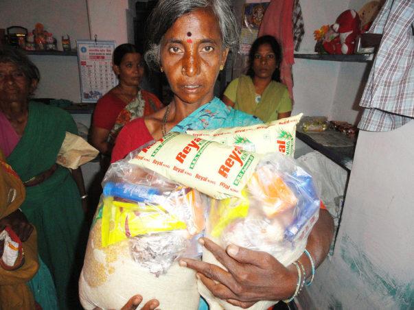 Sponsorship of Food Groceries to poor oldage person