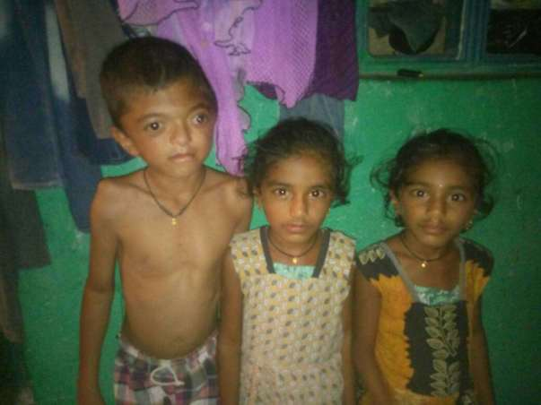 Aswanth with his sisters(Twins)