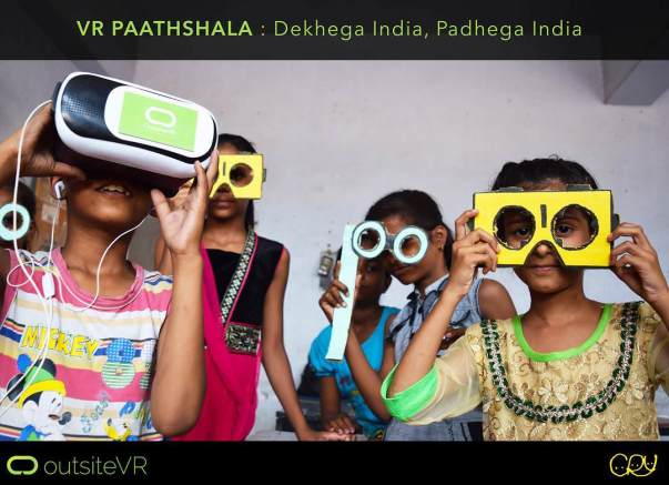 support for 'VR Paathshala' for under-privileged kids in rural india