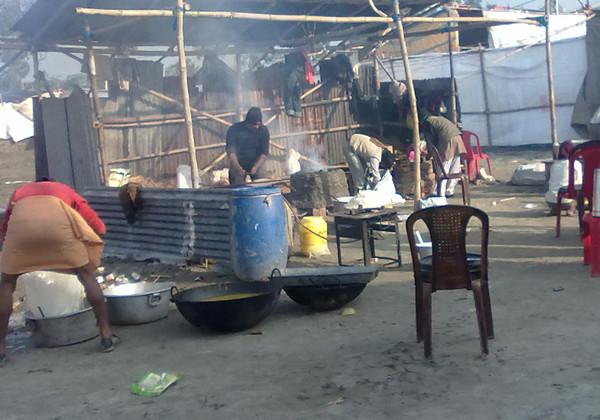 Making food for Pilgrims