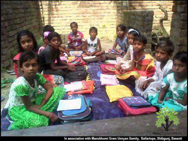 School Dropout Children of Ballartop Basanti, Sunderban