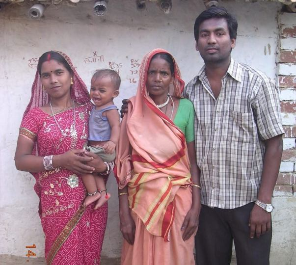 Premlata with her family in happier times