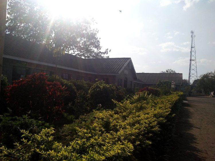 While walking around Karnataka Health Institute, Ghataprabha