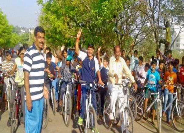Bengaluru Marathon: Support cycling and Road Safety, Sanjaynagar