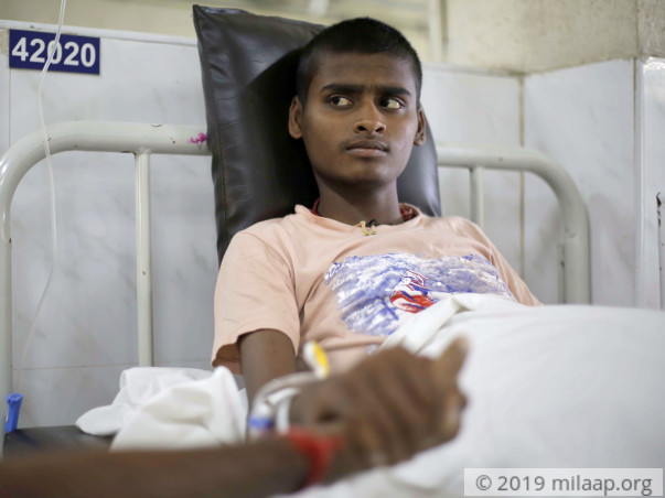 16-year-old Praveen needs help to fight cancer