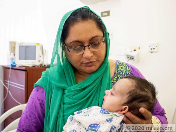 Baby Abrish Tasnim needs a bone marrow transplant to survive