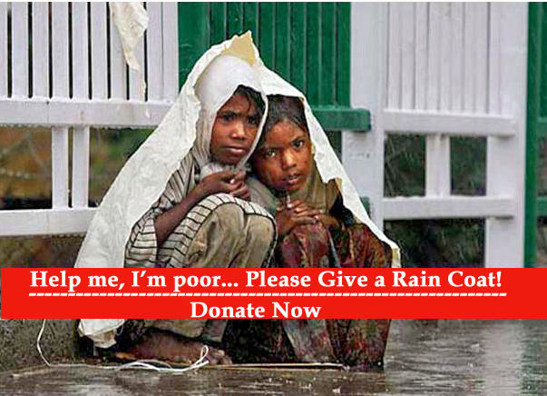 Give a Rain Coat to underprivileged Children