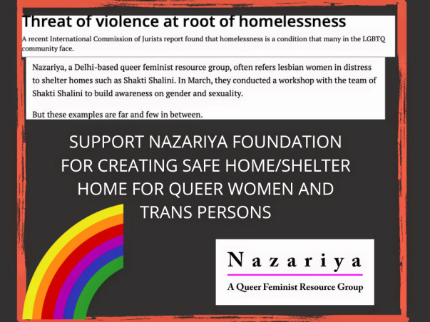 Creating Safe Home for Queer women and Trans* persons