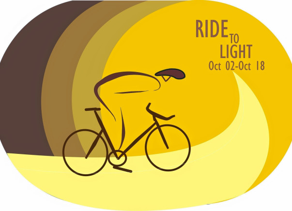 "Santosh will ""Ride2Light"" for education of the children of Mittur village"