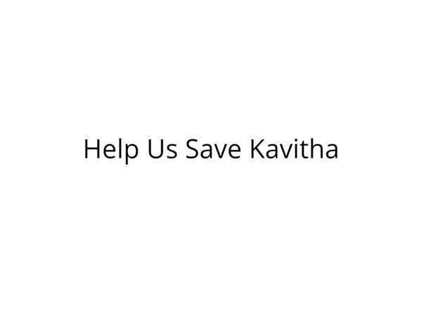 Help Kavitha