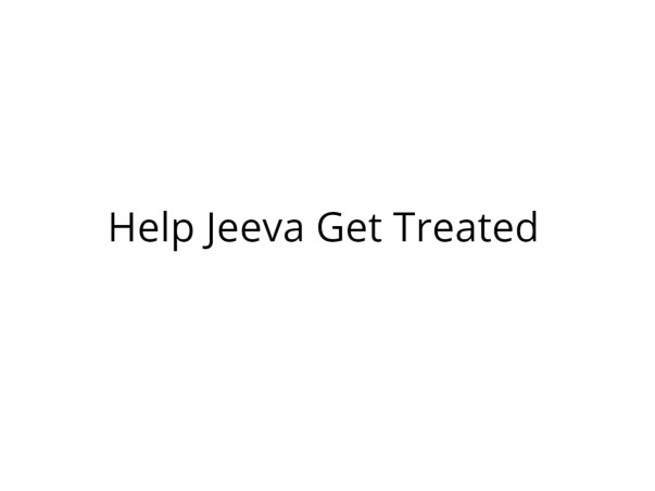 Help Jeeva Fight Cancer