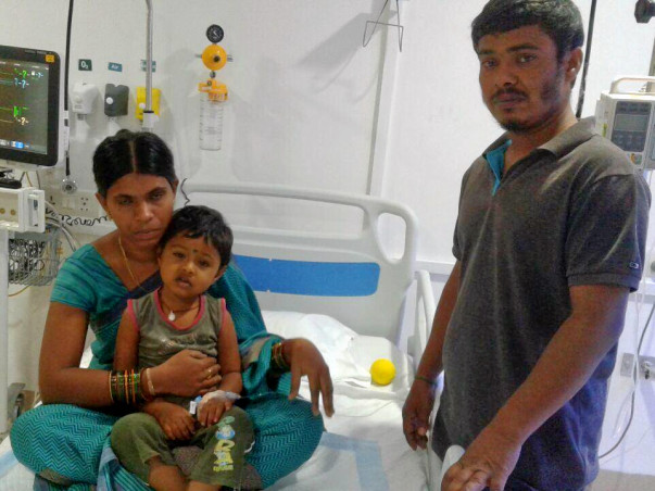 Help 3-year-old Sahasra to undergo a liver transplant