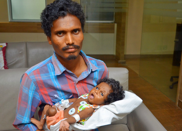 Laxmi's baby is only 3 months old and needs an urgent heart surgery