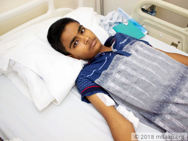 15-year-old Ritesh is suffering from blood cancer and needs help
