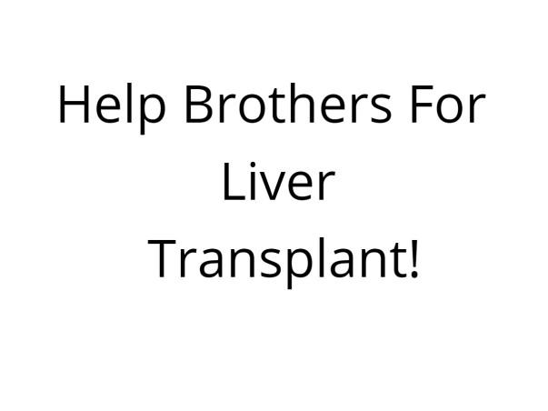 Help Brothers For Liver Transplant!