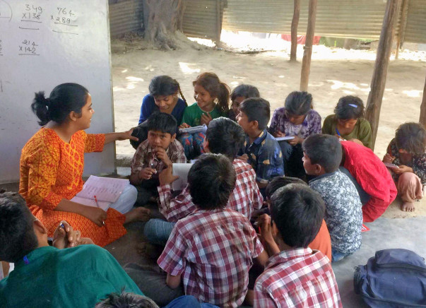 Support Education of Slum Children and Fund Libraries