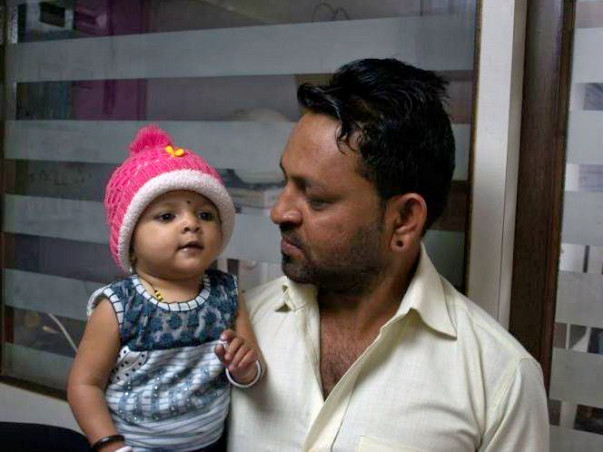 Help 9-Month-Old Baby Aditi Mukesh Undergo An Open Heart Surgery