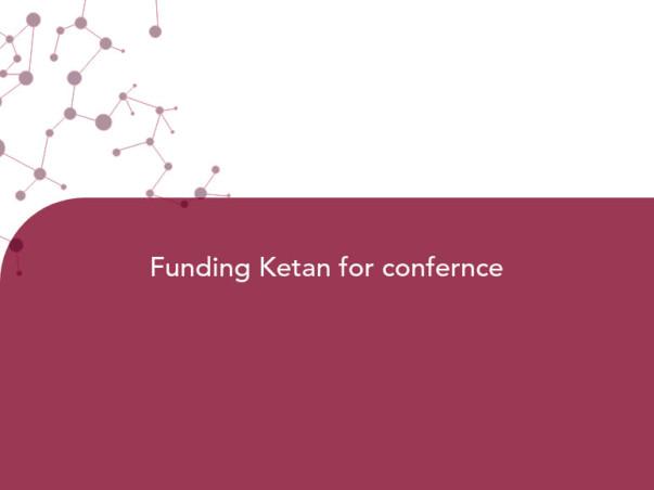Funding Ketan for confernce