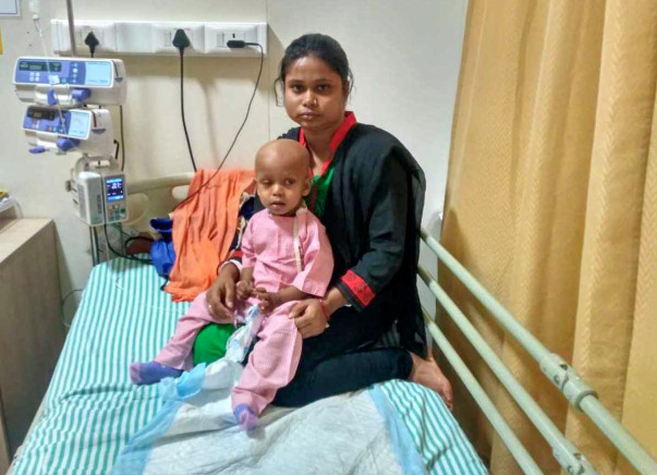 Help 1-year-old Ansh battle eye cancer
