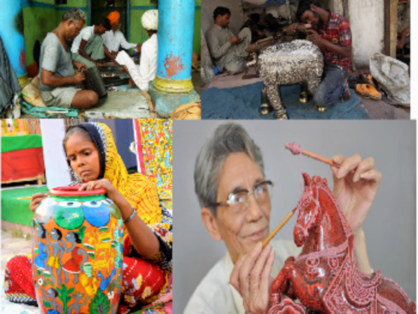 Handicraft corridor : Helping Hand for Poor from Art and Culture