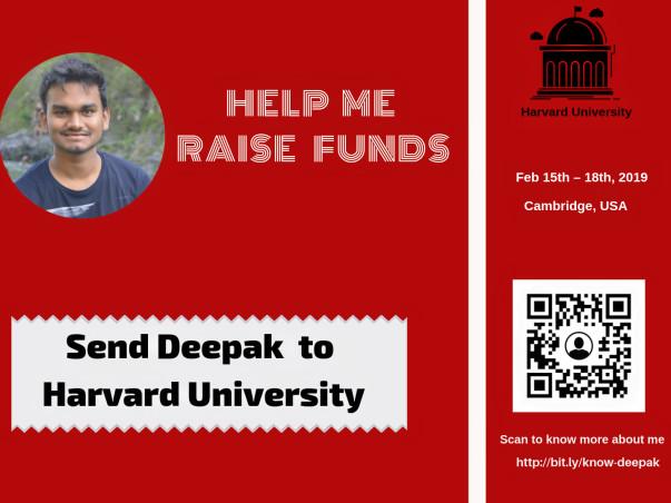 Help Deepak Attend Harvard College Conference 2019(HPAIR)