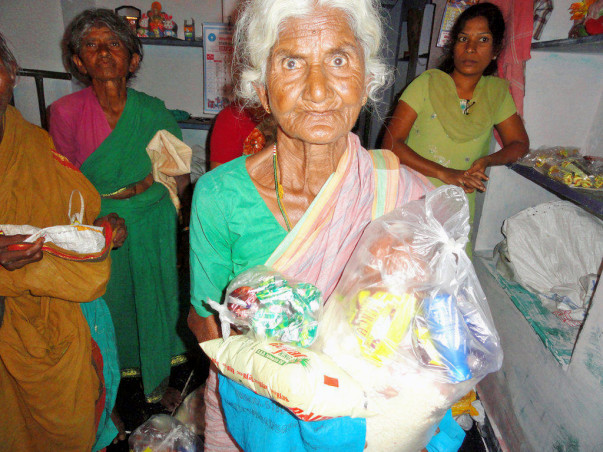 Donate Food Groceries to Poor Old Age Persons