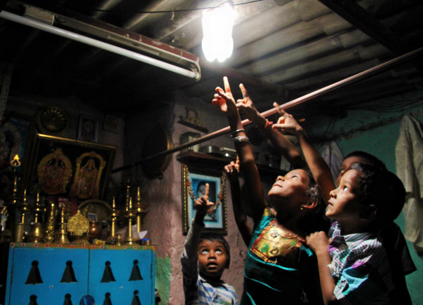Provide light to low income communities in India