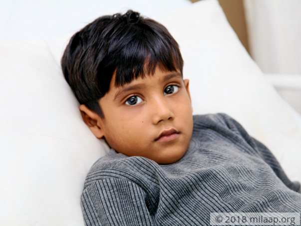 At just the age of 5, Priyanshu has to fight a cancerous tumor