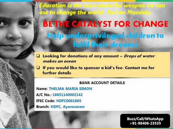 Help Underprivileged Children Realise their Dream