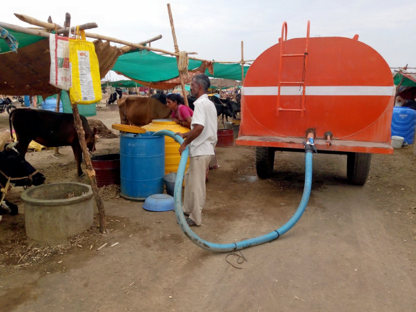 Help for people and farmer animals against water scarcity