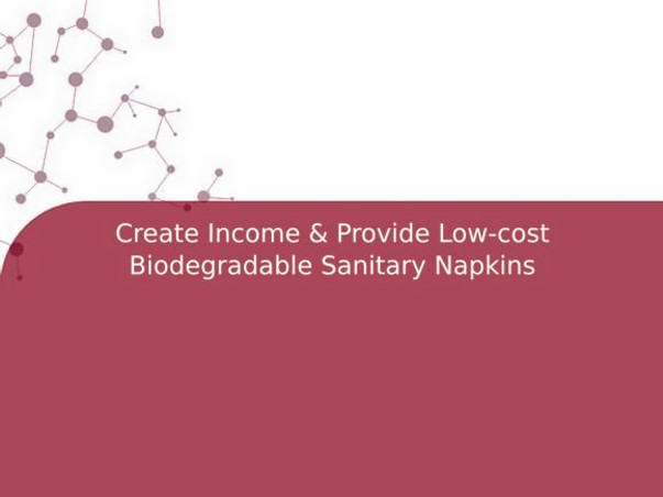 Create Income & Provide Low-cost Biodegradable Sanitary Napkins
