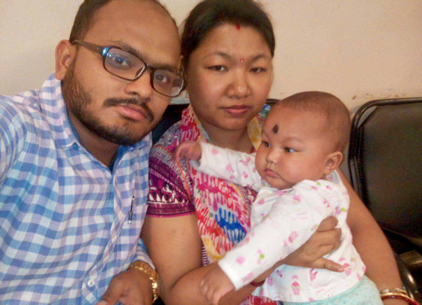 Ridit was born without a kidney and closed food pipe. Save Baby Ridit