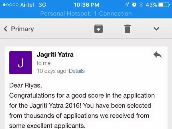 Help me grab a seat on Jagriti Yatra