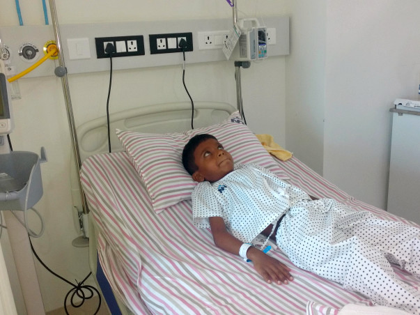 Baby Joyeb has a single kidney and needs your help