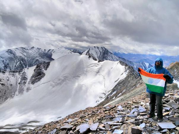 Climbing Mt. Elbrus  (5,642 m) to create Awareness against War Crimes