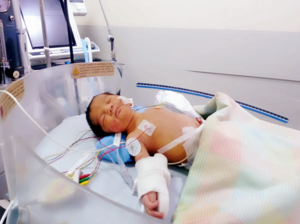 16 days old Baby of Saha needs an open heart surgery to survive.