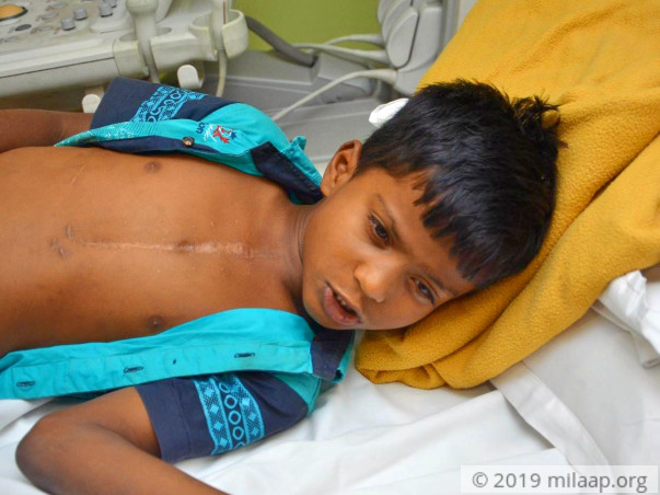 Help 7-year-old Gokul fight a severe heart disease
